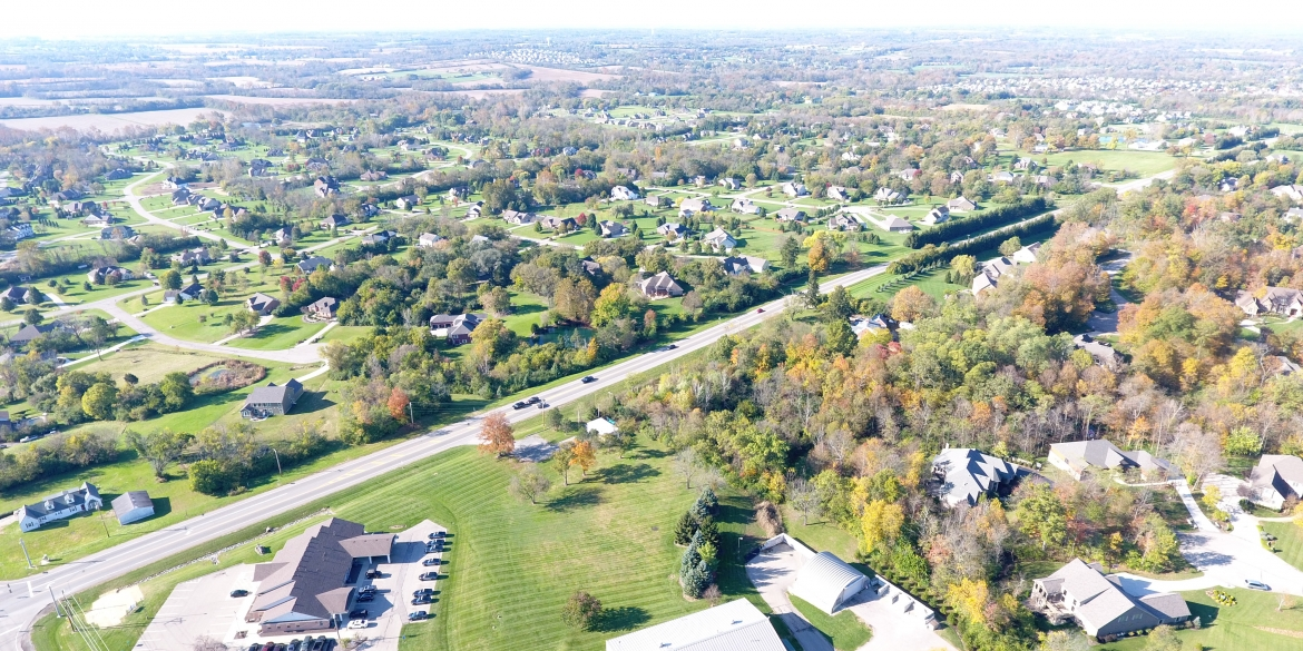 Aerial of Township