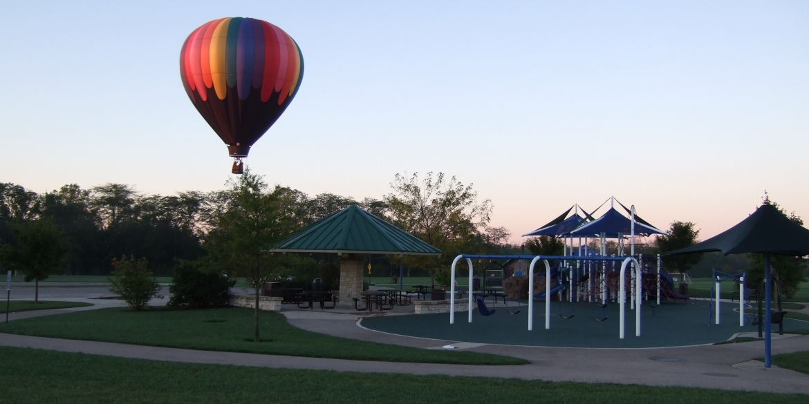 Patrica Allyn Park With Balloon