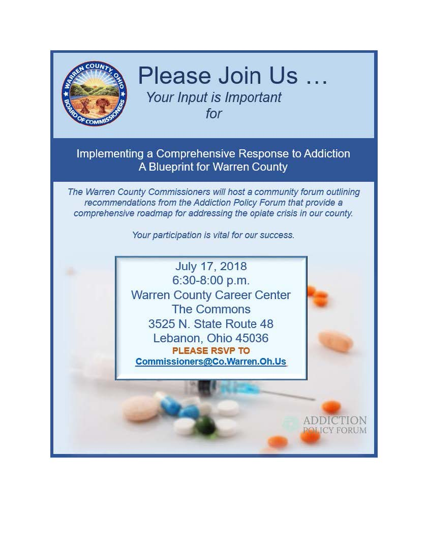 Community Addiction Forum Invitation